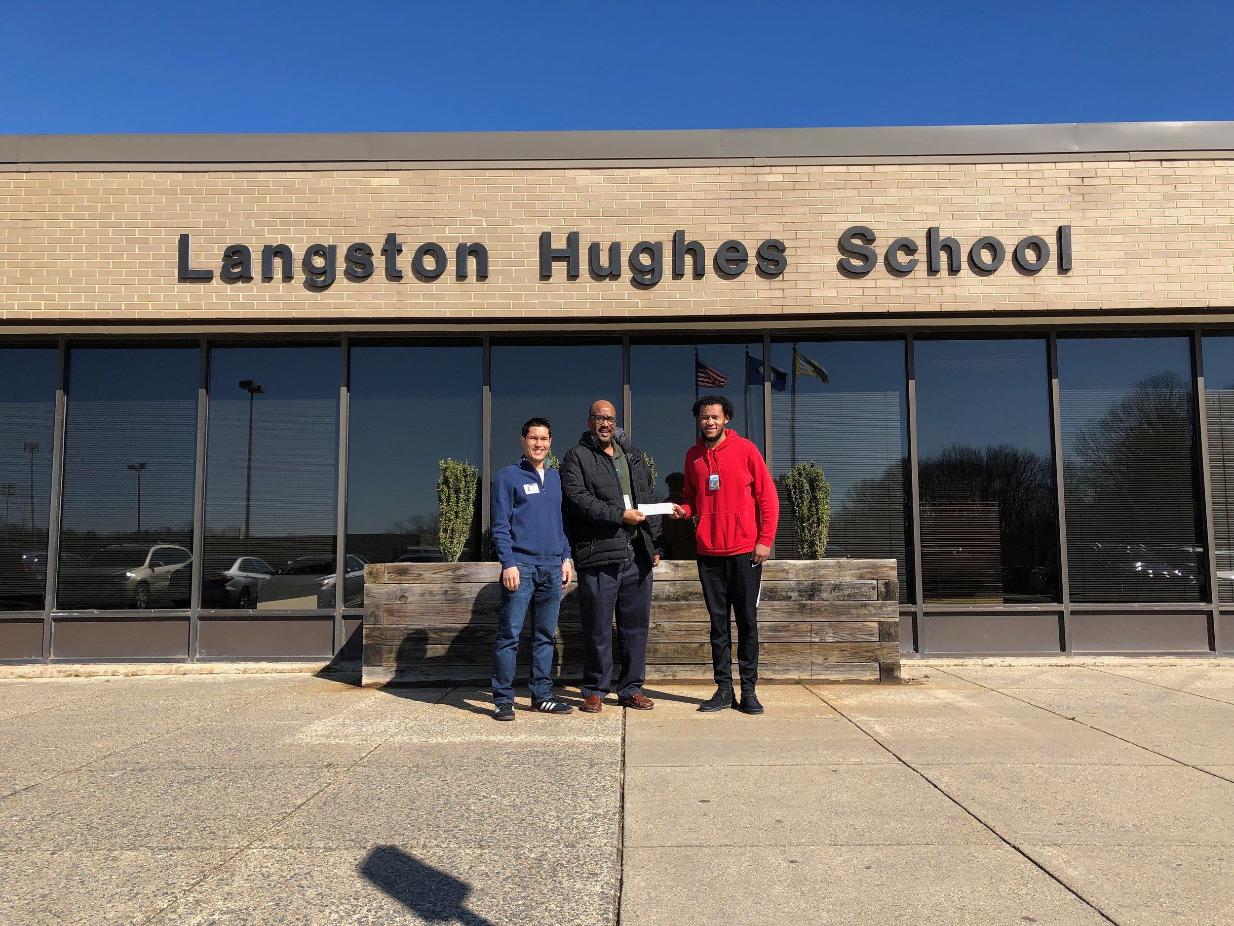 (Left to Right) Ken Savittiere (K12AF & FCFRD), Mr. Kyle (After School Specialist), Mr. Desouza (Assistant After School Specialist)
