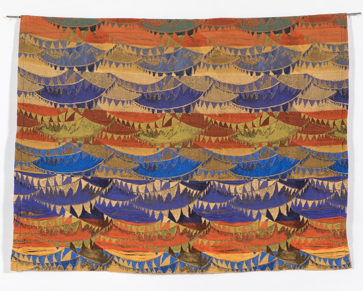 woven on Jacquard loom, 3 x 4'