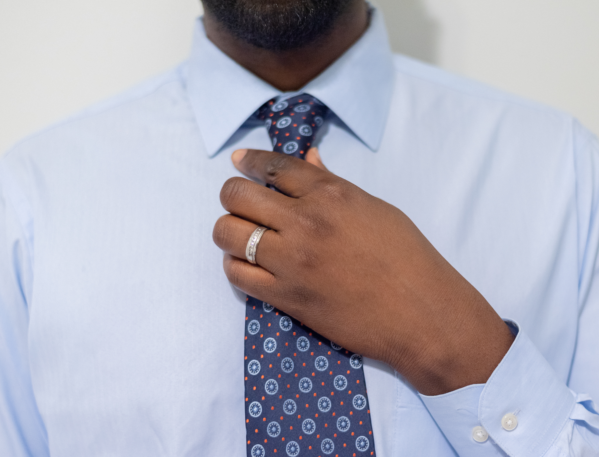 Father's day man with necktie in Columbia SC