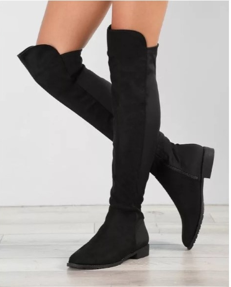 Round Toe Over The Knee Boots