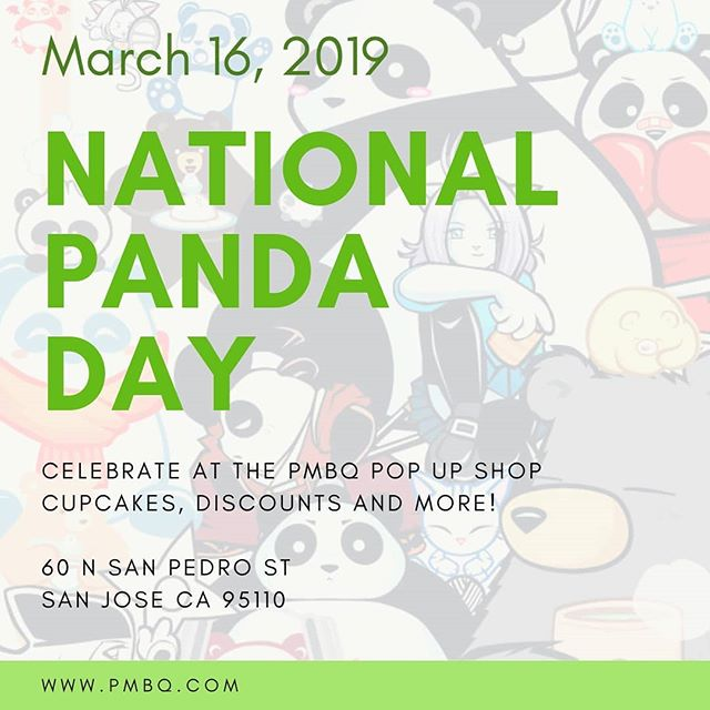 Celebrate National Panda day today with @pmbq! Each year, panda conservationists from all around the world join forces on this day to spread the word about the mystical and adorable panda. They're no longer endangered, but it's still important to continue to raise awareness to ensure to protect their habitats. P.M.B.Q. Studios is celebrating by giving everyone 10% off all panda apparel and art prints, and donating 10% of the net sales to the Smithsonian Zoo @smithsonianzoo in Washington D.C., where they first saw pandas and became inspired. They'll also have cupcakes, free buttons for kids 12 & under, giveaways and more. Stop by and shop for the panda cause!  Blog - https://www.pmbq.com/blogs/latest-news/national-panda-day-2019 👩🏻‍🎤👩🏻‍🎤👩🏽‍🎤👩🏼‍🎤 MOMENT is located at 60 N. San Pedro Street. Open Tuesday through Sunday from 10 am to 8 pm. #meetyourmoment #momentsj2019 #SanJose #SiliconValley #BayArea #dtsj #ilovesj #wearesj #408 #madeincali #shoplocal #buylocal #supportlocal #shopsmall #makermovement #makerculture #handmade #handcrafted #artisan #smallbatch #makersgonnamake