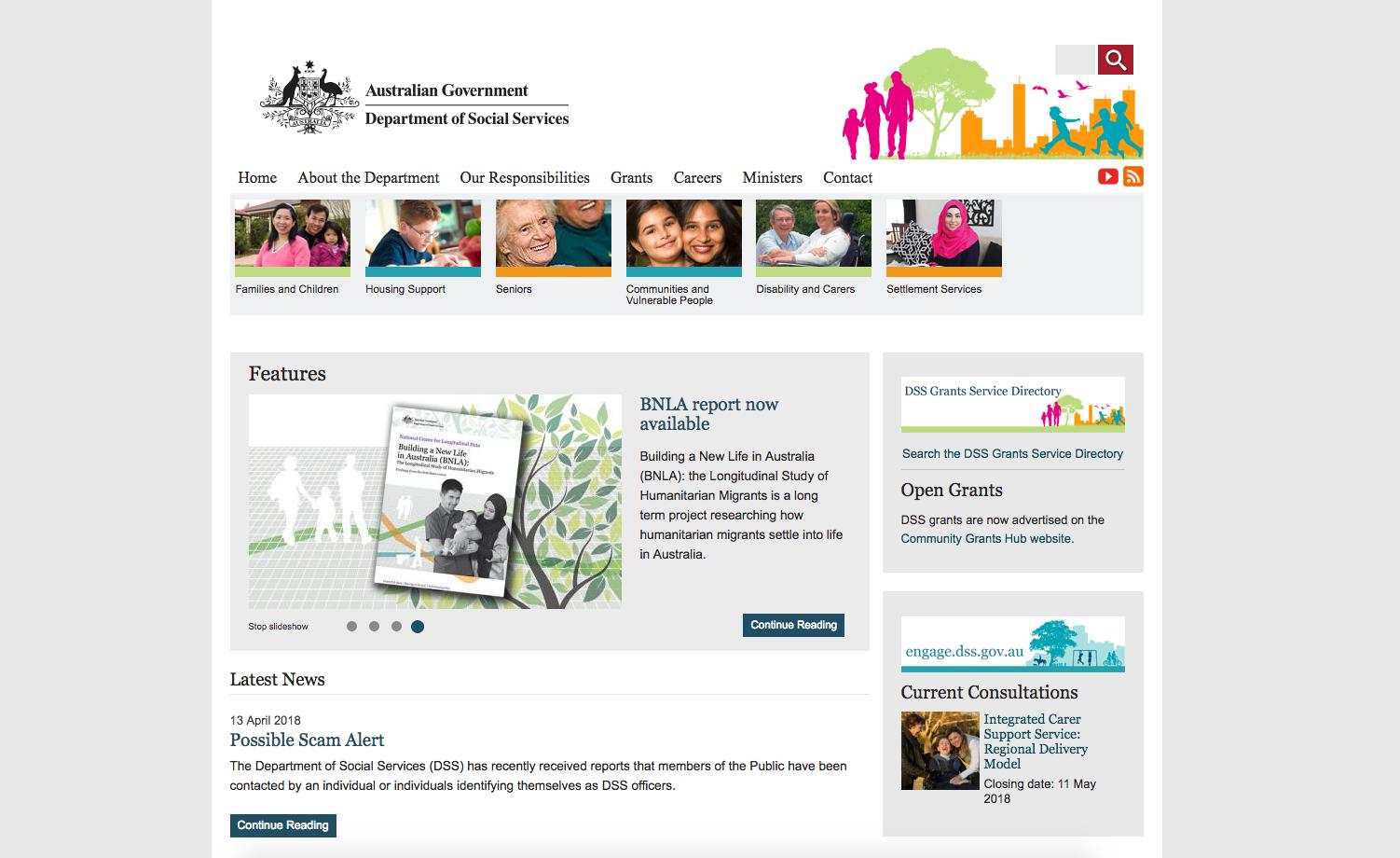 Department of Social Services - https://www.dss.gov.au/