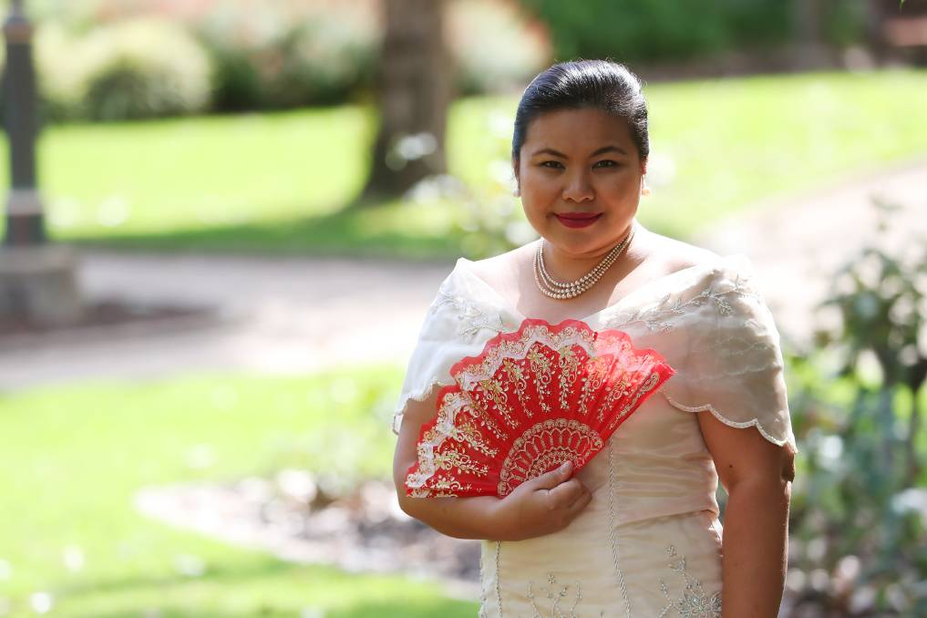 """PROUD OF HER HERITAGE: Annabelle Borja wears the national dress that is inspired by Maria Clara, who is a Filipino female heroine. Picture: Emma Hillier  A dress made from pineapple fibre might seem unusual to some, but for Wagga Filipinos, it is the material of their national dress - a fashion statement they are proud to make.  Over the coming weeks, The Daily Advertiser will be highlighting fashions from cultures that are thriving in Wagga with women leading the way forward.  Annabelle Borja moved to Australia looking for a better life for her family and arrived in Wagga in 2015.  Annabelle Borja moved to Australia looking for a better life for her family and arrived in Wagga in 2015. """"I am a permanent resident and I just lodged for citizenship,"""" she said. Annabelle Borja moved to Australia looking for a better life for her family and arrived in Wagga in 2015. """"I am a permanent resident and I just lodged for citizenship,"""" she said. Mrs Borja said she is proud of her Filipino heritage and enjoys the chance to wear the national dress known as the baro't saya. """"Baro't means the top and saya means the skirt,"""" she said.  """"This is inspired the outfit of Maria Clara one of the female heroines in our national heroes book entitled Noli me Tangere, which means Touch Me Notthat was written by Dr Jose P Rizal. """"Maria is a perfect example of a Maria Clara who is very conservative, very refined and very principled who fought for her rights as a person.""""  Mrs Borja said she is proud of her Filipino heritage and enjoys the chance to wear the national dress known as the baro't saya.  """"Baro't means the top and saya means the skirt,"""" she said. """"This is inspired the outfit of Maria Clara one of the female heroines in our national heroes book entitled Noli me Tangere, which means Touch Me Notthat was written by Dr Jose P Rizal. """"Maria is a perfect example of a Maria Clara who is very conservative, very refined and very principled who fought for her rights as a person.""""Mrs Borja said t"""