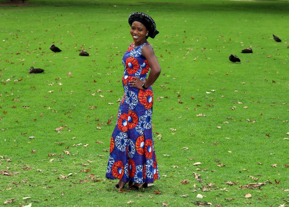 PASSION FOR FASHION: Aderonke Ayedero designs her own dresses using African prints to showcase her culture. Picture: Les Smith    Designing and creating clothes inspired by Nigerian fashion is the passion of one woman in Wagga.    In recent weeks, The Daily Advertiser has been highlighting fashions from cultures that are thriving in the region, with women leading the way forward.
