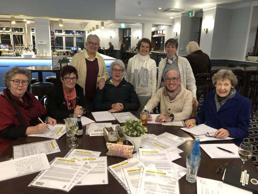 """CALL TO ACTION: The Wagga Amnesty group gathers on the first Tuesday of every month to write letters demanding action in cases of human rights violations.  """"People say to us 'why don't you just send emails?'.""""Emails can be deleted. """"Emails can be ignored, but it's pretty hard to ignore hundreds or thousands of letters on your desk.""""Ms Burgess said a letter is a powerful method of bringing attention to an important issue. """"It's the power of the number of people who are doing this,"""" she said. """"I have friends in England who do the same thing. They go to the pub and they write letters. """"A concerted effort of thousands of people condemning inhumane actions makes a difference.""""  Ms Burgess referenced the campaign to free Australian Al Jazeera journalist Peter Greste, who was imprisoned in Cairo amid false allegations of aiding the Muslim Brotherhood. He spent 400 days in prison and was freed following mass condemnation of his incarceration across the globe. Ms Burgess said Wagga is a conservative city and it can be hard to find people who share the same concerns and passions. """"I am with a group of like-minded people,"""" she said.""""Wagga is a very politically conservative place and you have to be careful about expressing your views.  """"Amnesty International is not political but the reality is we are like-minded about social justice issues and it's lovely. """"Gabrielle Robinson, the coordinator, said she collects the urgent actions from Canberra Amnesty office. """"They are the ones that need an immediate response before a certain date,"""" she said.  """"We write the letters as directed, but can write them in our own way to a certain extent.""""They are polite but strongly worded. I post them all off the next day.""""On Tuesday, the group were penning letters to Prime Minister Scott Morrison, Home Affairs Minister Peter Dutton and Deputy Prime Minister Michael McCormack.""""We are protesting about the crisis situation on Manus Island that has unfolded after the election,"""" Ms Robinson said.    Ema"""