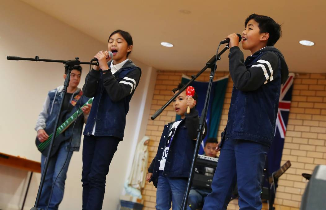 """Ysabella Borja, 10, Joz Pastor, 5 and Paolo Cumla, 11, perform for their friends, family and fellow community members. Picture: Emma Hillier   """"This year will be the 121st celebration, it's a commemoration of our freedom from the Spanish Colonialism back in 1898,"""" she said. """"It's also to commemorate the heroic sacrifices of those who fought and gave their lives to make sure that we have the independence we enjoy now."""" Mrs Borja said for her, the day was about more than just celebrating the past."""