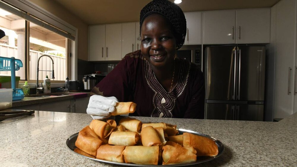"""""""I am happy when I cook this food,"""" Ms Okoi said. """"It's always when better when you cook. """"I started cooking when I was 15 in a restaurant in my country, right up until when I was married because it's hard with the babies.""""When she cooks, she feels at home Ms Okoi said. Fusion19 is on Saturday October 19. For more information click    here   .     https://www.dailyadvertiser.com.au/story/6370547/tastes-of-wagga-bringing-a-sudanese-flavour-to-town/"""