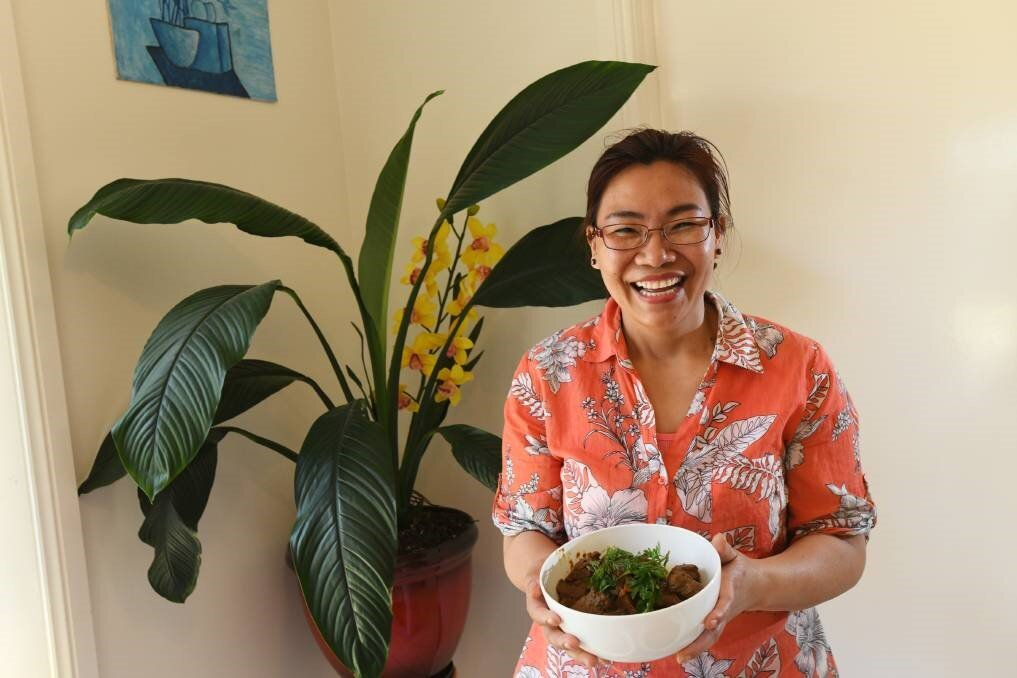 """DELICIOUS DISHES: Lucy Zatang says while food from her culture is traditionally spicy, they will be dialling it back for Fusion.    Mrs Zatang said she loves cooking dishes from the Kachin culture.""""I love spicy food,"""" she said. """"But, for Fusion, it won't be spicy because not everyone likes it."""" Mrs Zatang said she encourages everyone to come down and check out the Kachin Community Stall as it will have plenty of """"delicious dishes"""". Each year, more than 10,000 people soak up the vibrant festival atmosphere in the heart of Wagga with entertainment, fun activities and market-style eateries. Headlining Fusion19 are Kardajala Kirridarra, Thandi Phoenix, Hot Potato Band and Big Sky Mountain.    Belinda Crain, CEO of the Multicultural Council, said community members love being able to share food from their culture, and it is the perfect way to share a piece of themselves with Wagga.    Fusion19 is on Saturday at the Victory Memorial Gardens from 4pm."""