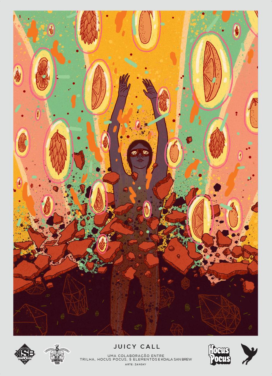 JUICY CALL - IPA   Arte por Zansky
