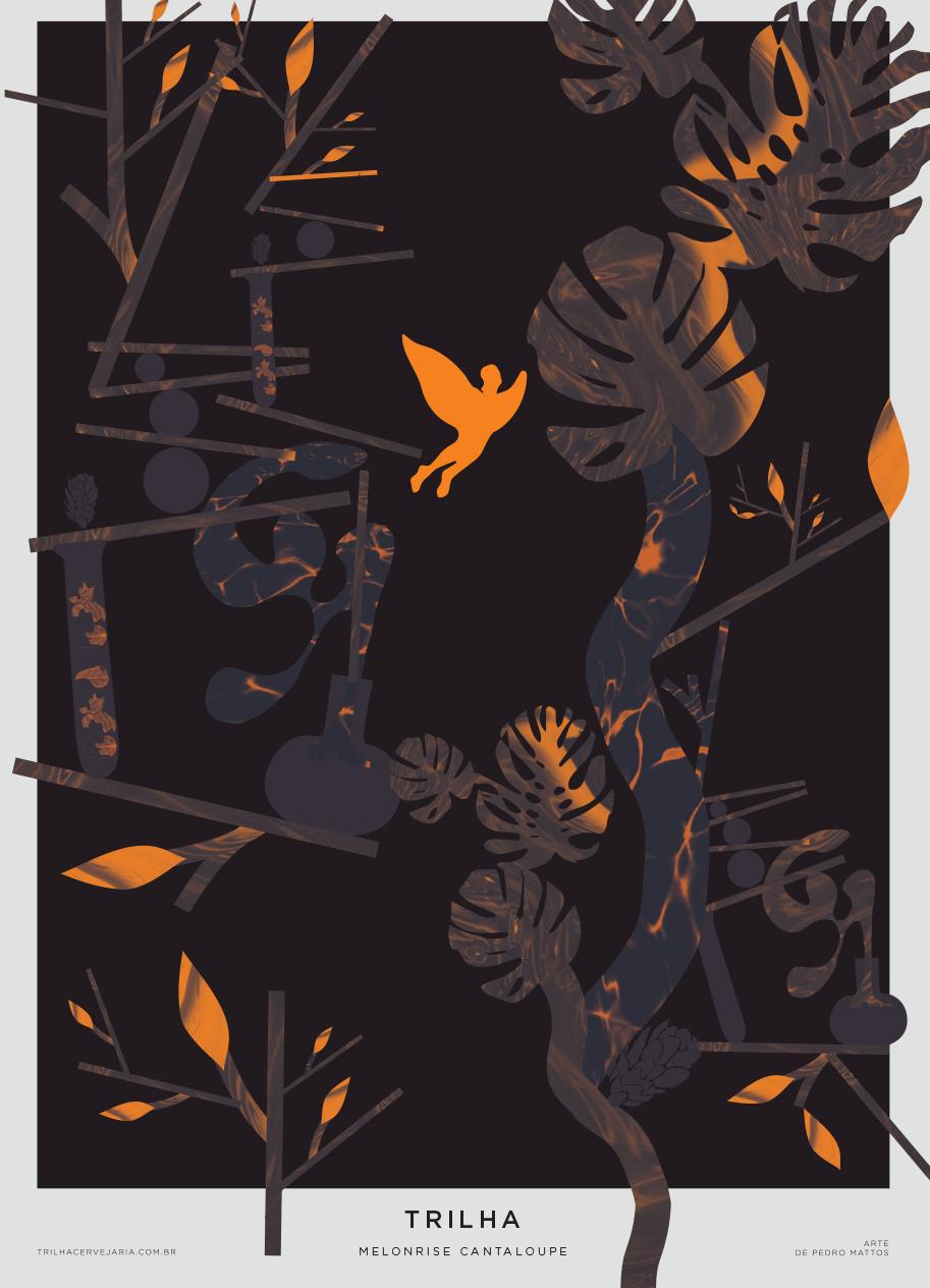 MELONRISE CANTALOUPE - IPA   Arte por Pedro Mattos
