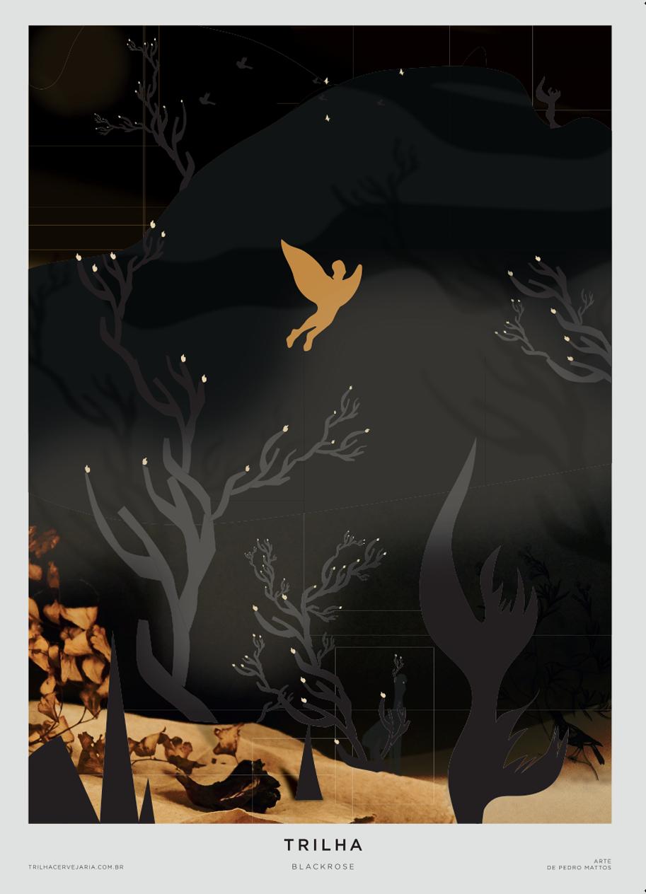 BLACKROSE - STOUT   Arte por Pedro Mattos