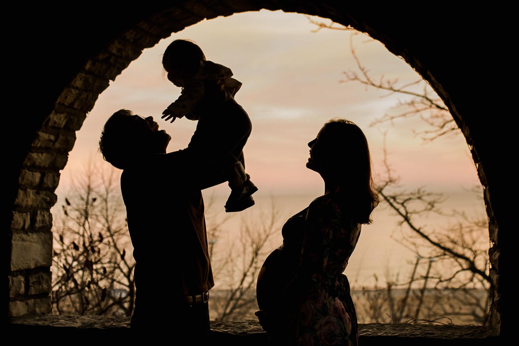 maternity silhouette photo photography Plano Dallas luxury
