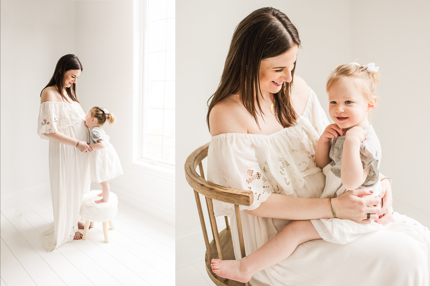maternity with big sibling photographer Dallas Plano