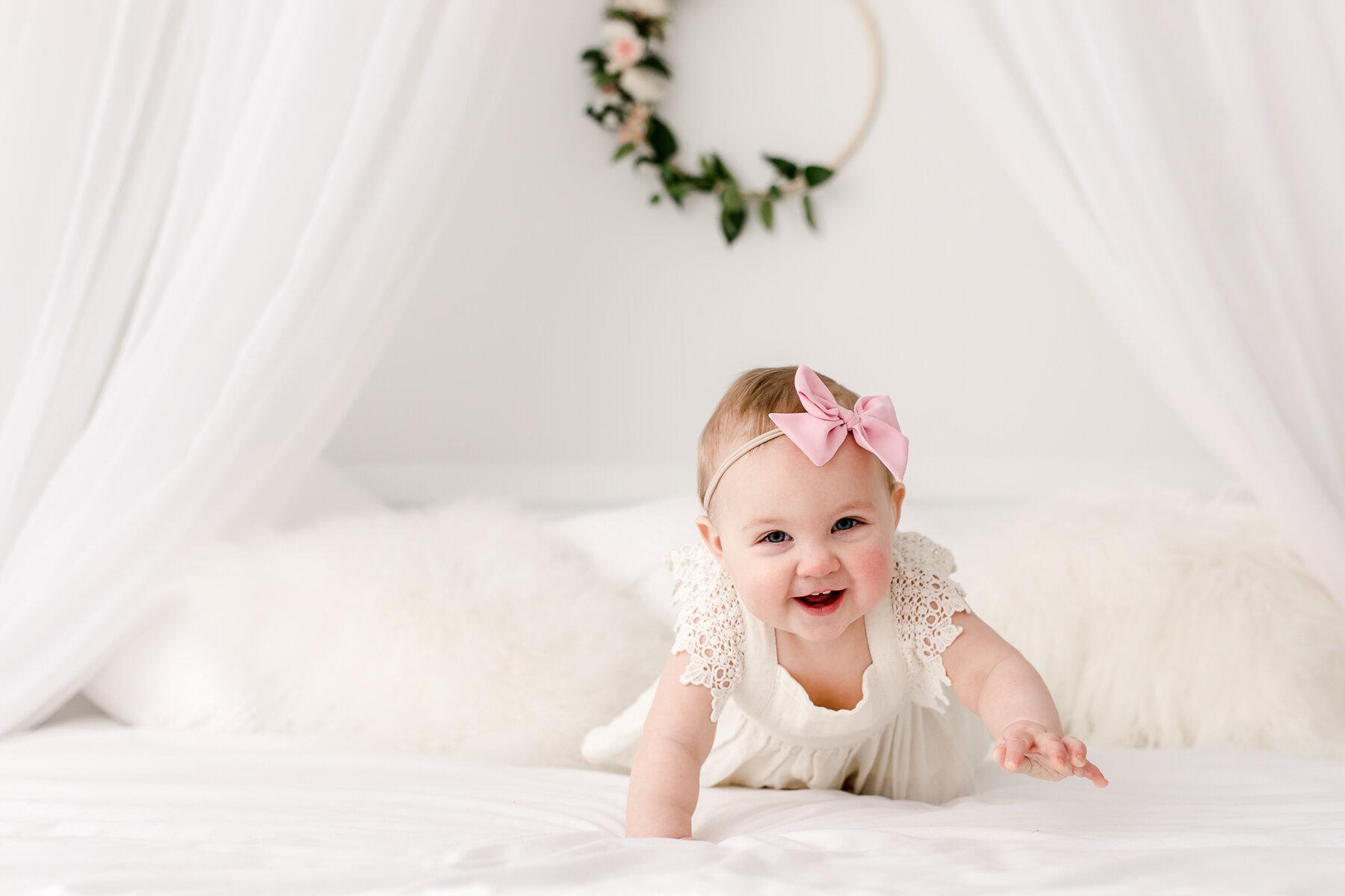 six month baby photographer Plano studio