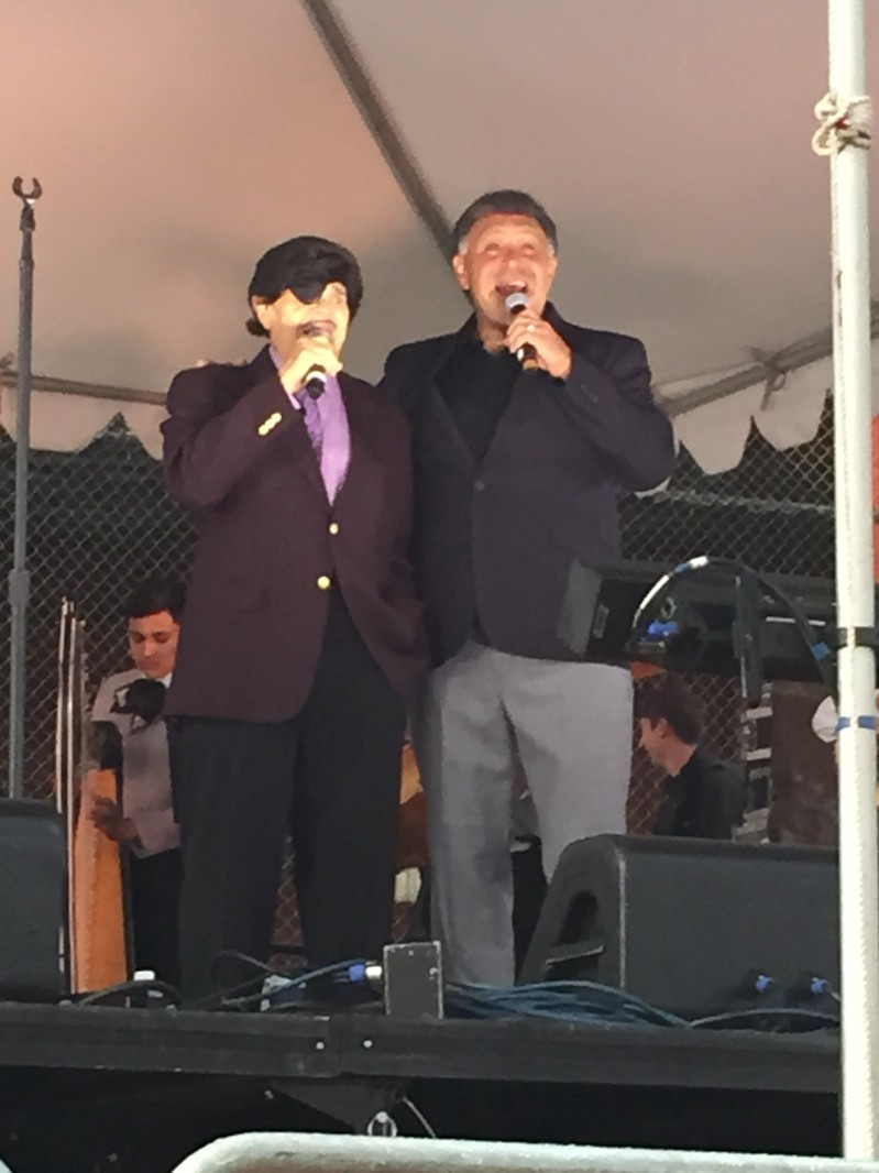 Al Hurricane and Al Hurricane, Jr. in performance, Fort Marcy Magers Park, Santa Fe, New Mexico (9/5/15) - Photo by Elizabeth Lovero