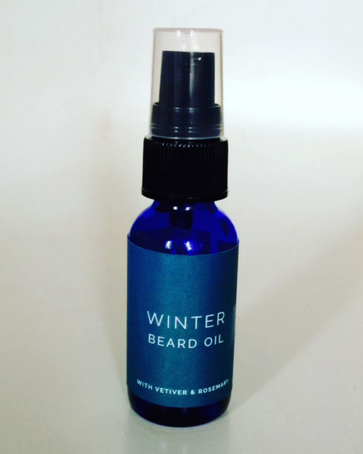 For the Sexy Bearded Man in Your Life - Winter Beard Oil. With Vetivert and Rosemary in a sweet almond and jojoba base. Softens, conditions the beard and smells like a man should….seriously the Vetivert will drive you crazy, in a good way. $35