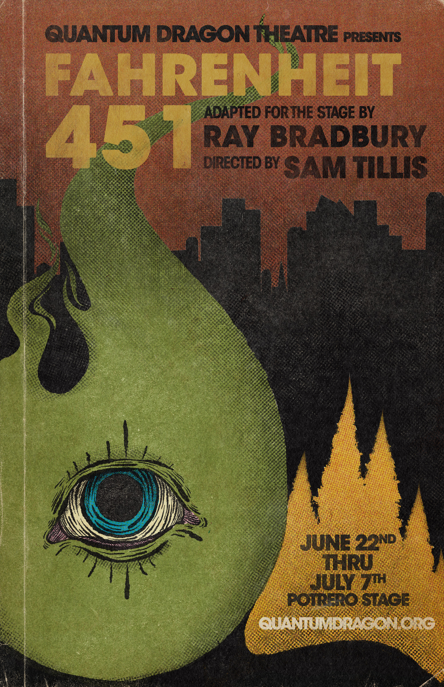 Fahrenheit 451 - By Ray BradburyDirected by Sam TillisJUNE 22nd—JULY 7th, 2019Potrero Stage1695 18th St, San Francisco110 min, including one intermissionClick here for content notice