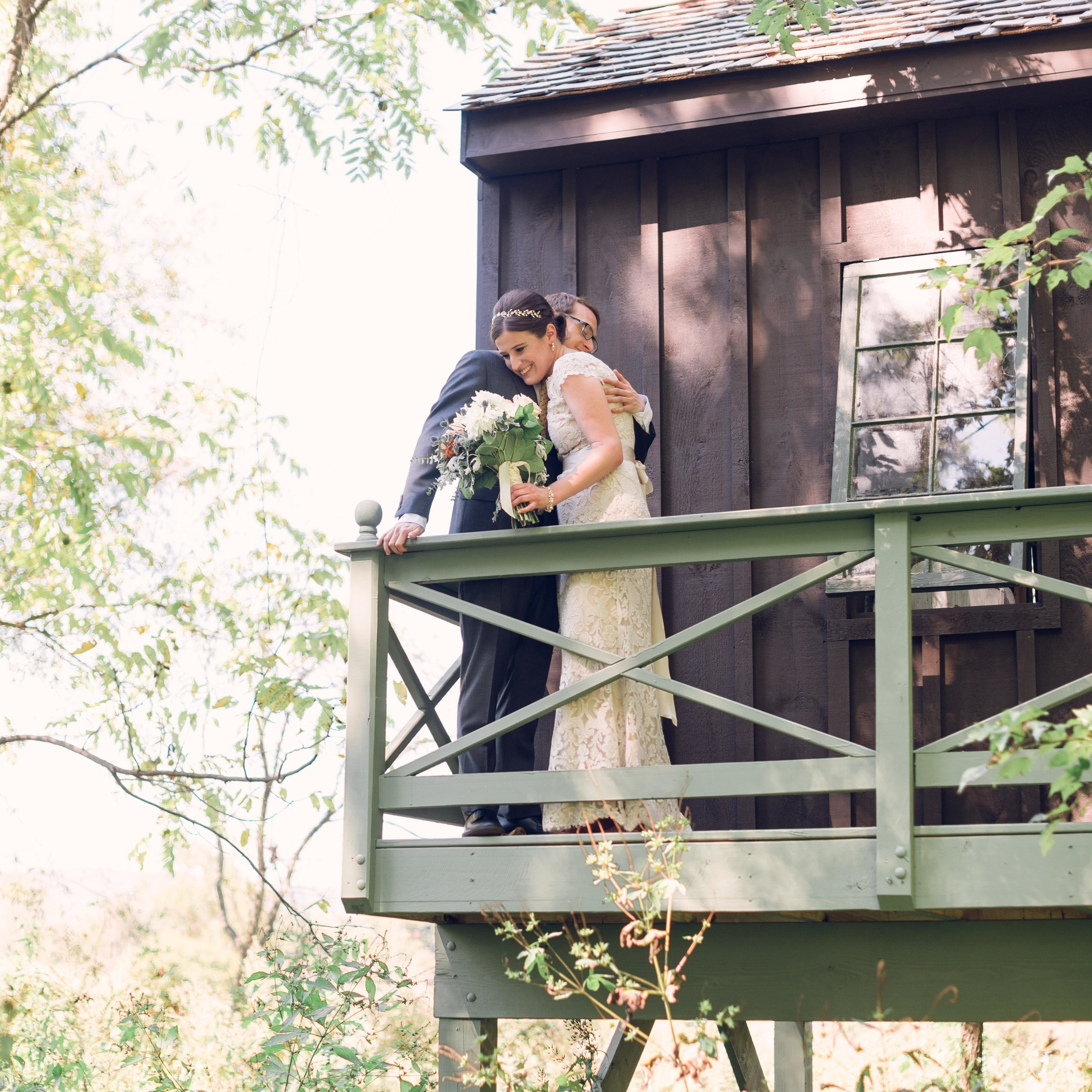 The Treehouse - What could be better than sneaking off with your love, for a few moments alone in your own private treehouse? This treehouse is located near the Woodland and is the perfect retreat for your first few moments as a married couple.Photo Courtesy of Photography Du Jour