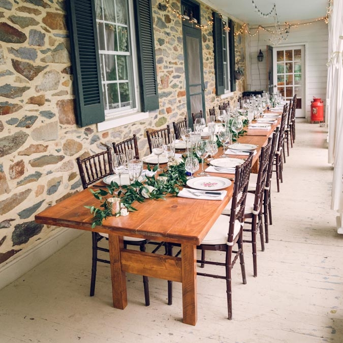 The Porch - The front porch is not just the perfect spot to enjoy a glass of wine and rock in the rocking chairs, it can also be used to host an intimate wedding dinner or rehearsal dinner.Photo courtesy of Photography Du Jour