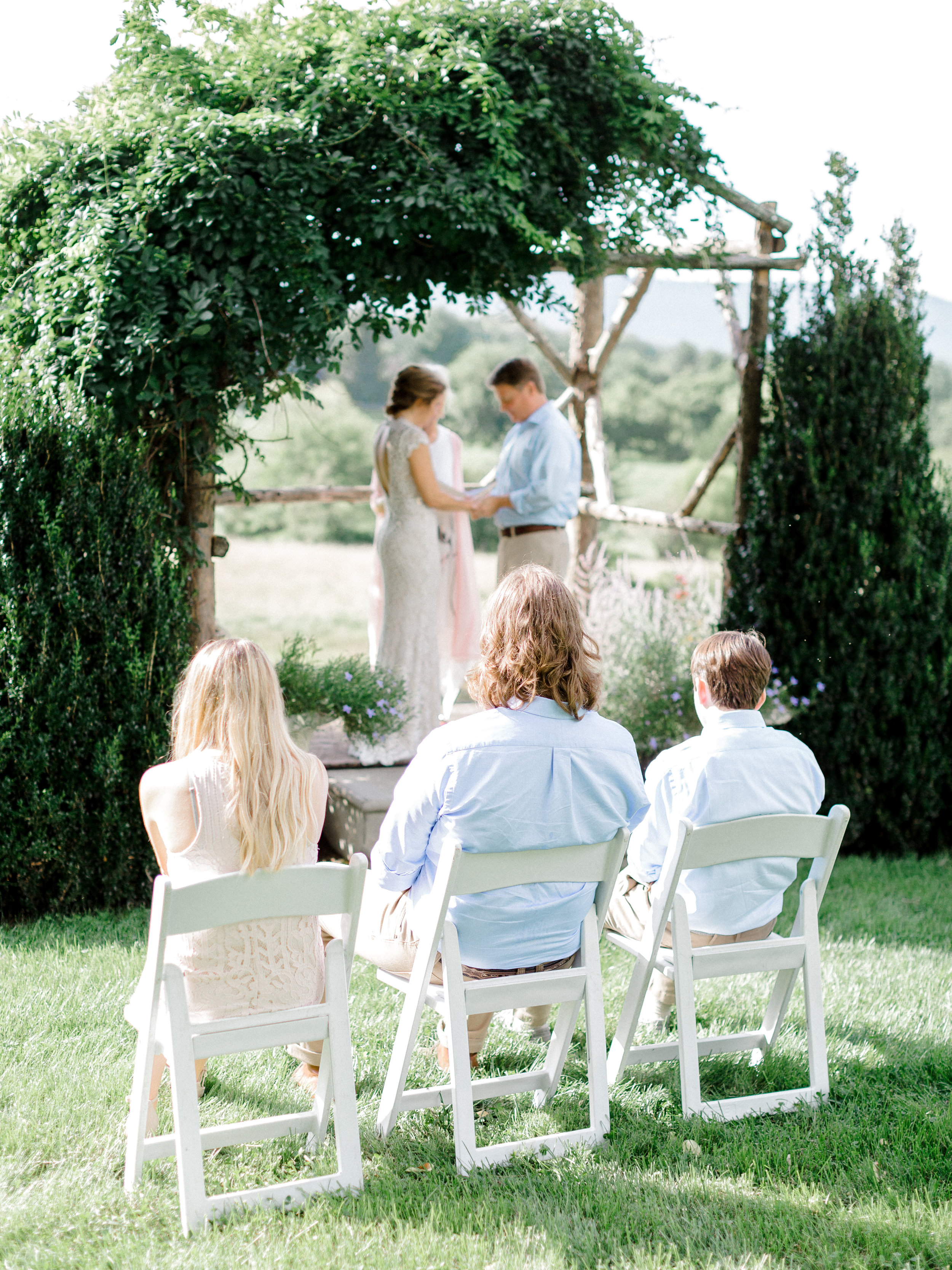 Intimate Ceremonies - Angie & Shaun had just 3 guest for their pop-up wedding. No number is too small to celebrate here at Silverbrook.