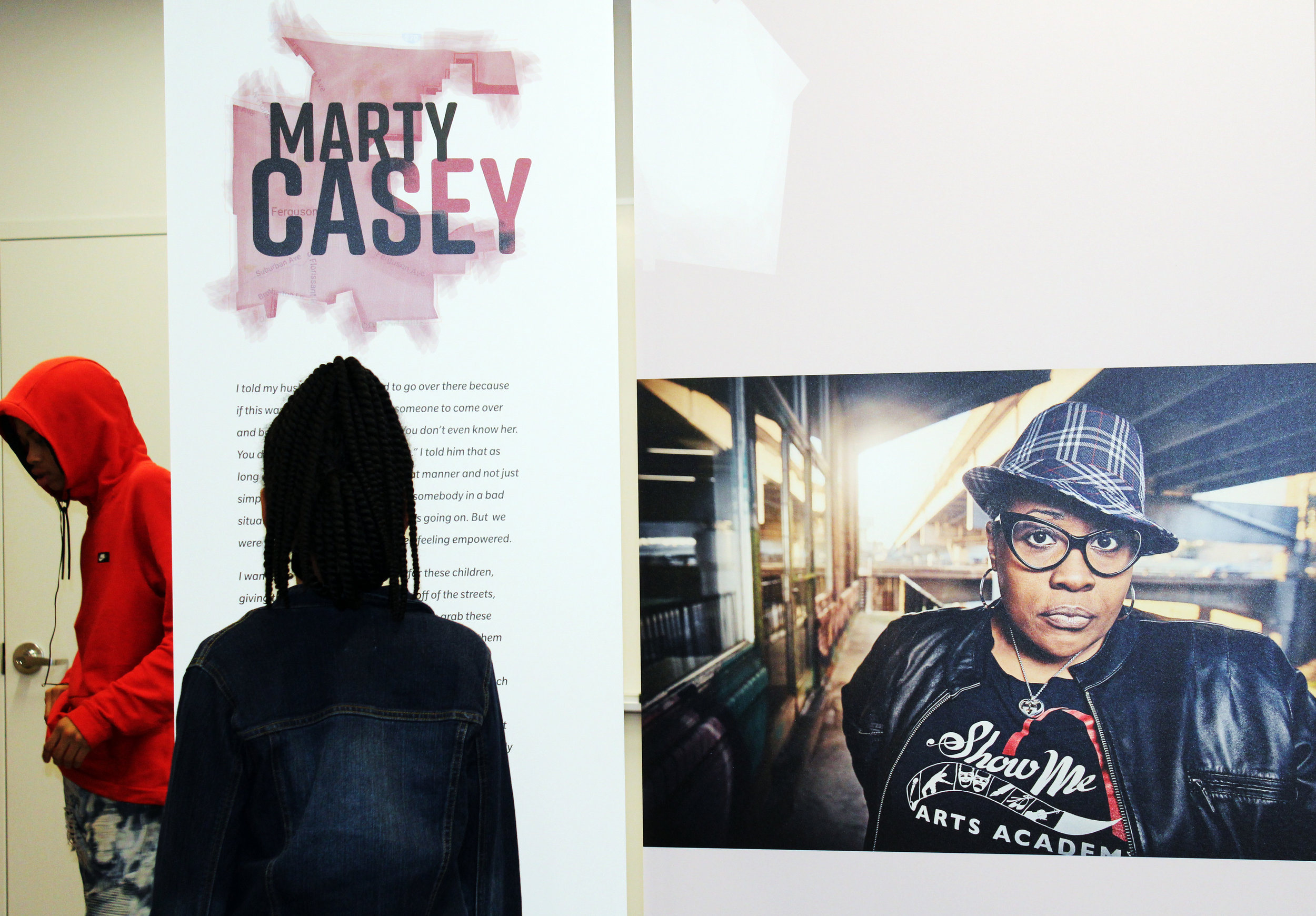 Marty Casey's panel in  Ferguson Voices: Disrupting the Frame  at St Louis Public Library, 2018