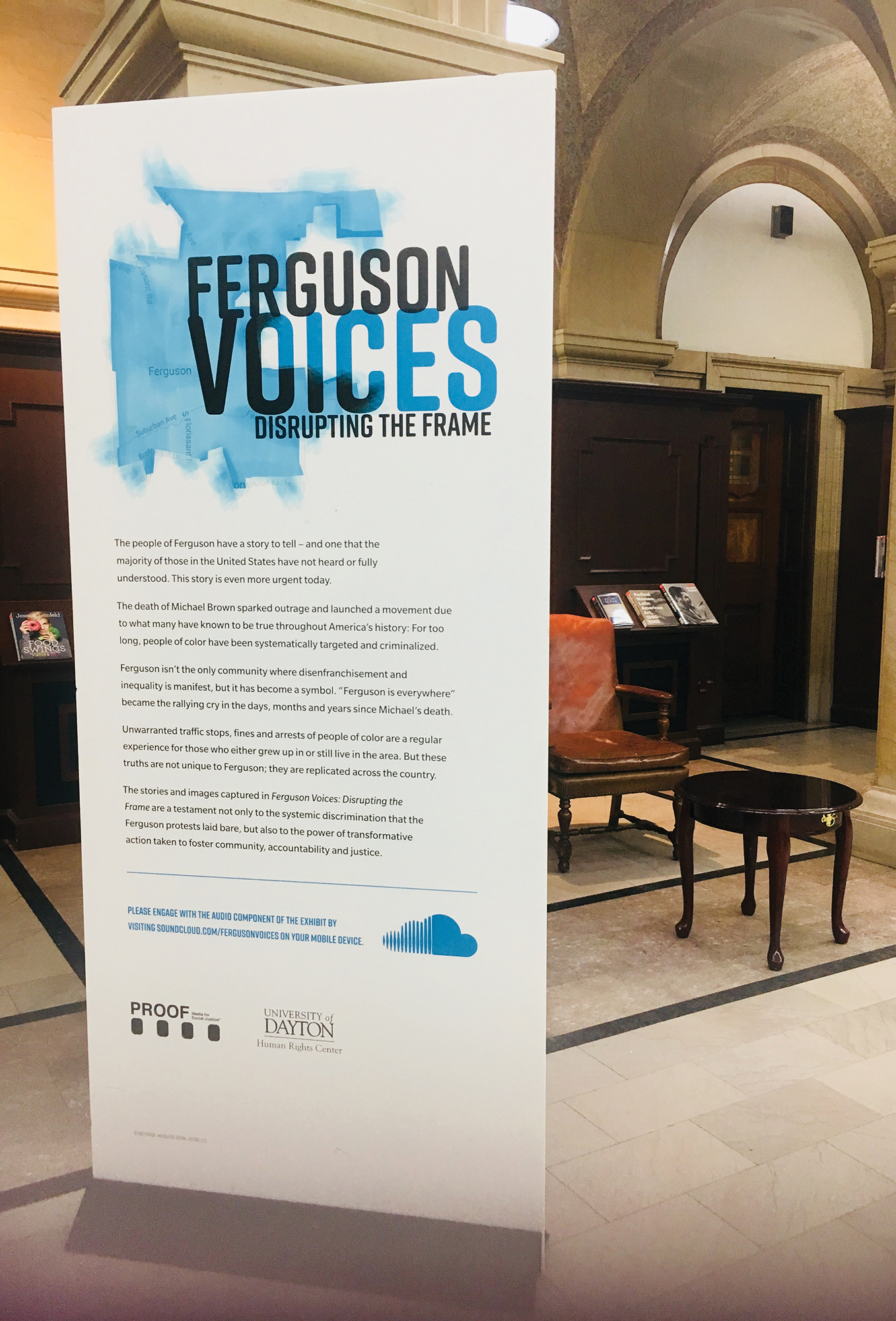 Ferguson Voices: Disrupting the Frame  at Newark Public Library, 2018