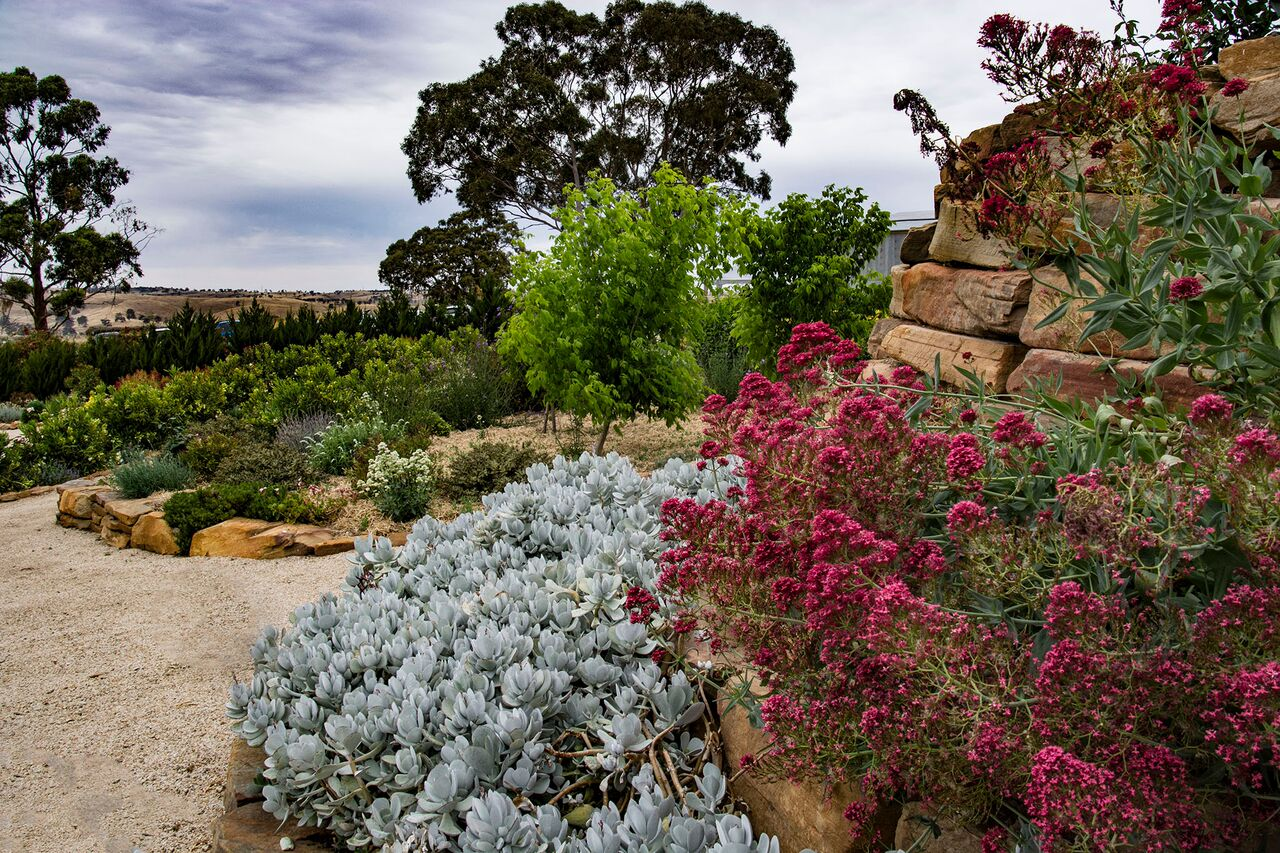 Wall at Highcroft Garden Adelaide Hills