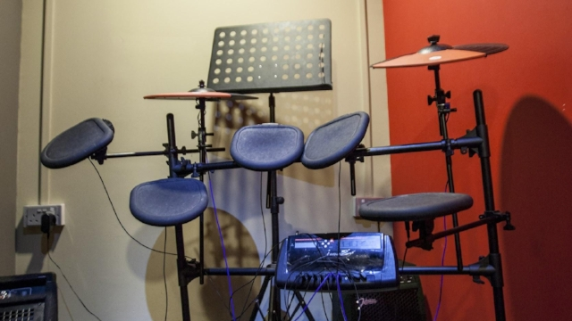 Electric Drum   Electric drum set can be a lot of fun and great for learning because of its built-in tools for practice. It also allows the drummer to adjust sound volume to his/her preferred level.