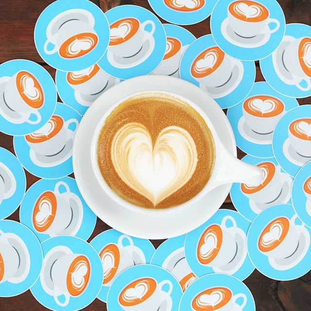 Sticker for you, Sticker for me, Sticker for everyone ☕ . . . . . PC:StickerMule #Yimmies #Coffee #Coffeeandtea #drinkcoffee #photooftheday #happy #picoftheday #like #fun #smile #love #art #food #drinks #bestoftheday #ilovecoffee  #espresso #drink #cup #coffeecup #drinkoftheday