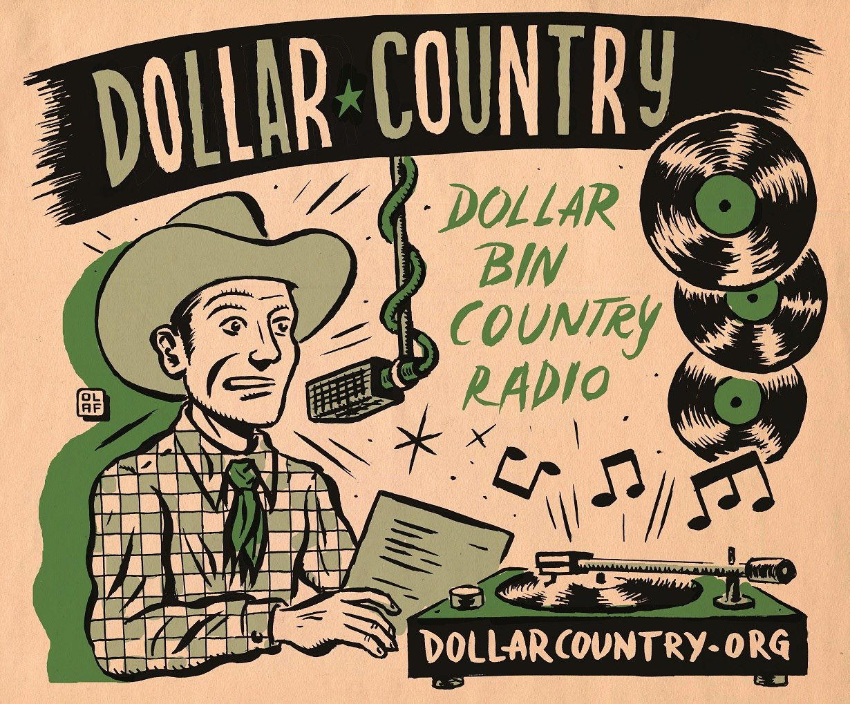 Cool art by Olaf Jens for  dollarcountry.org