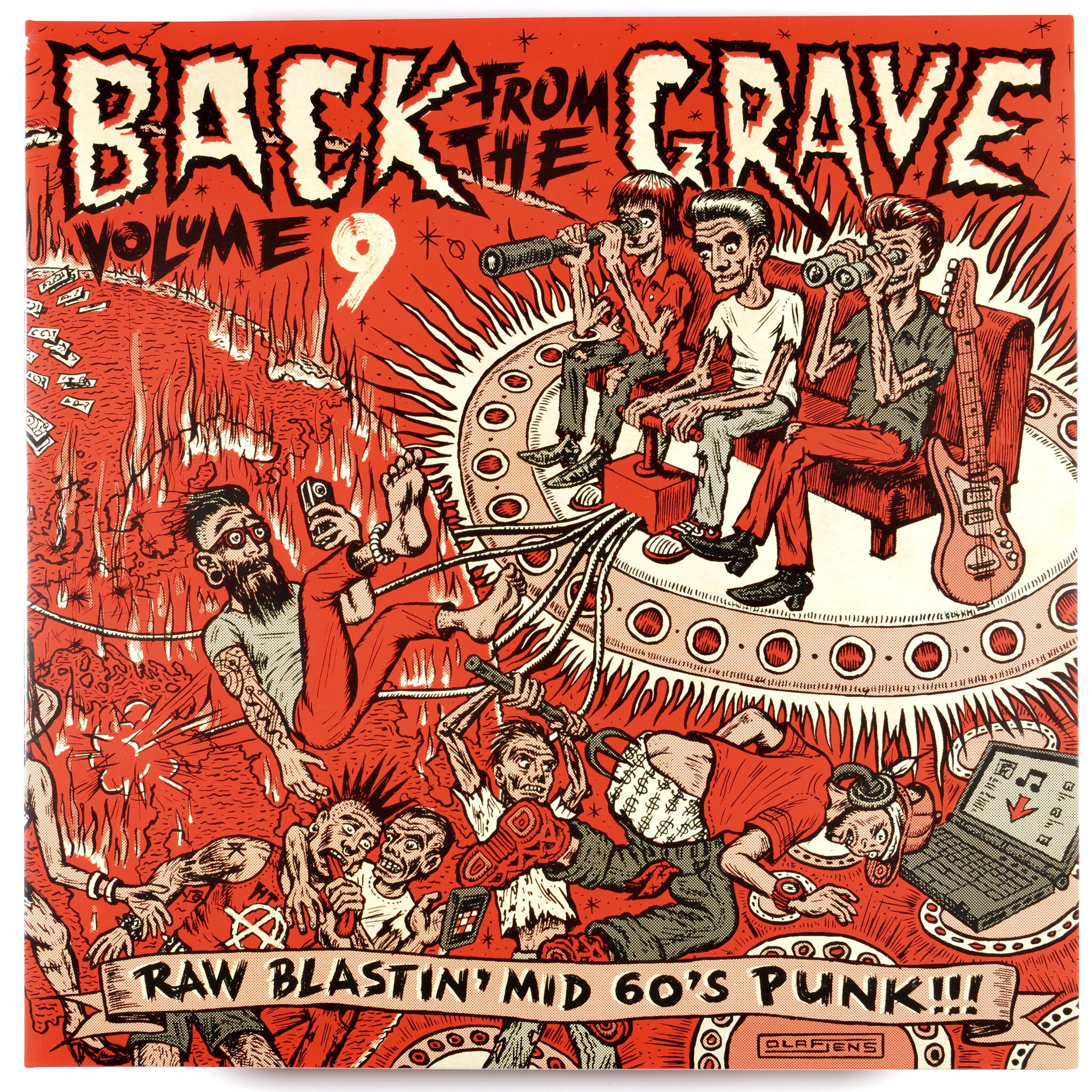 Album sleeve for Back from the Grave volume nine by Olaf Jens