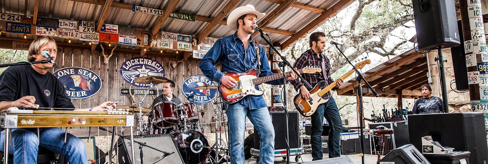Weldon Henson and the Honky Tonk Frontier band playing their monthly residency in Luckenback