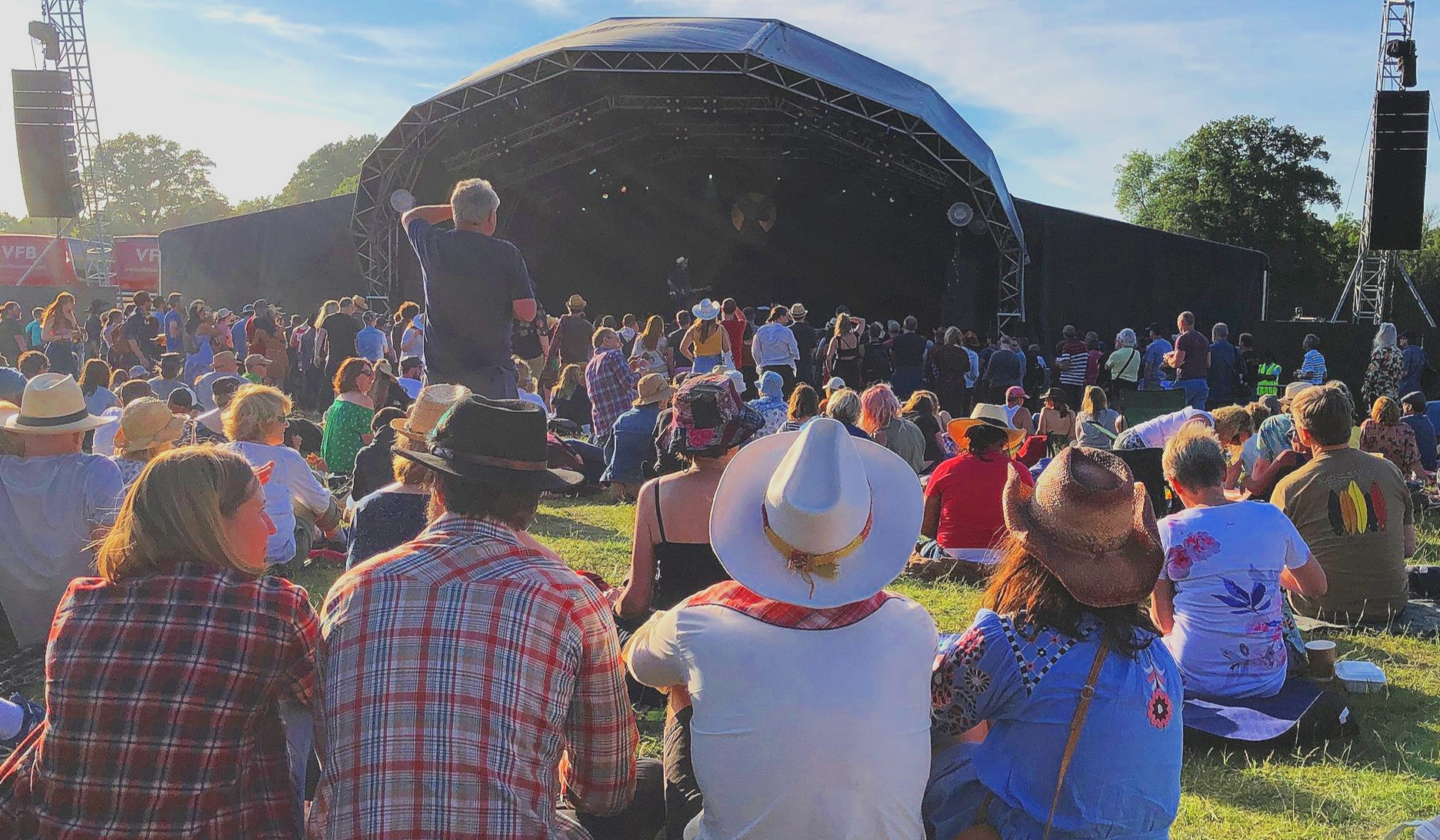 Main Stage at Black Deer, Saturday Lunchtime - Photo by WP