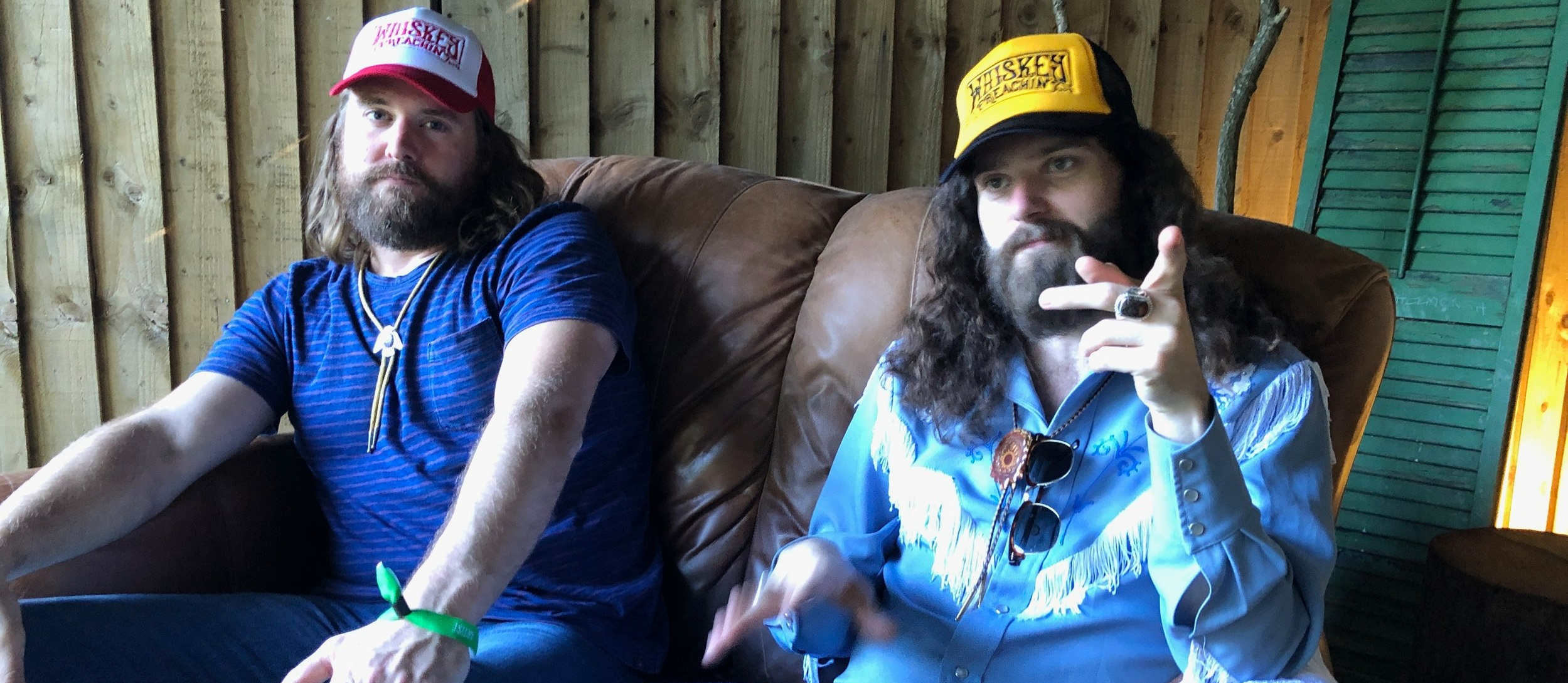 Ewan and Ryan from The Sheepdogs taking a moment out to talk to us - Photo by WP