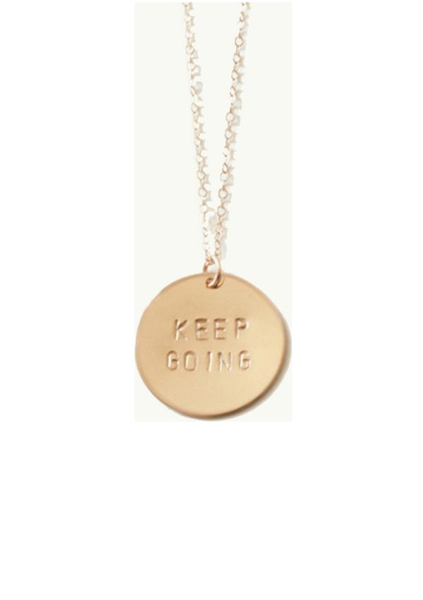 Keep Going necklace, Julia Kostreva