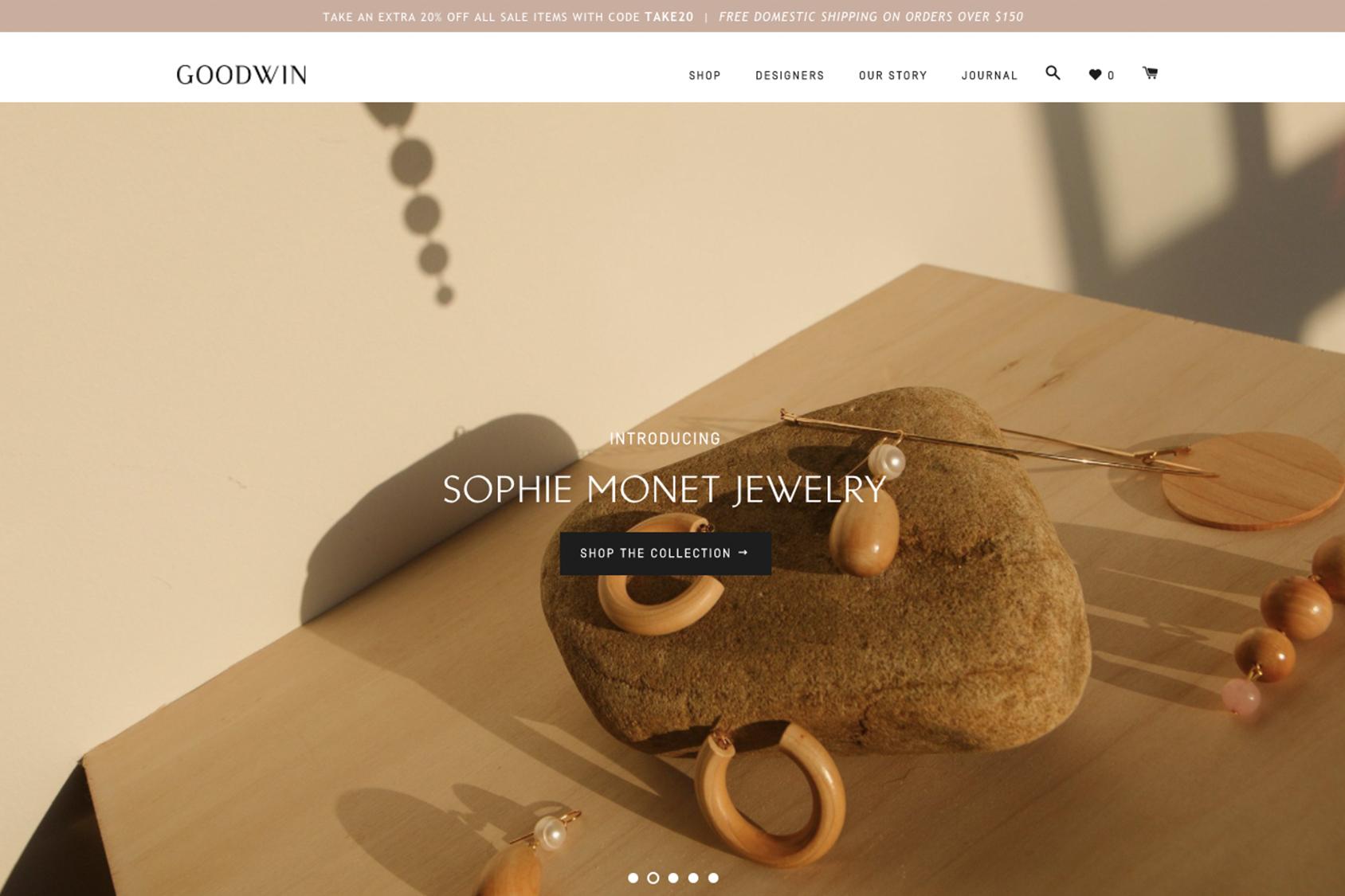 Shopify website by Julia Kostreva Studio