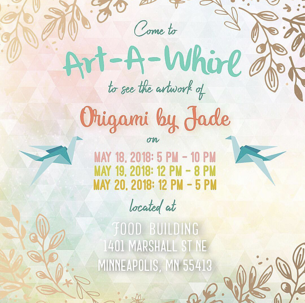 Art A Whirl at FOOD BUILDING - May 2018
