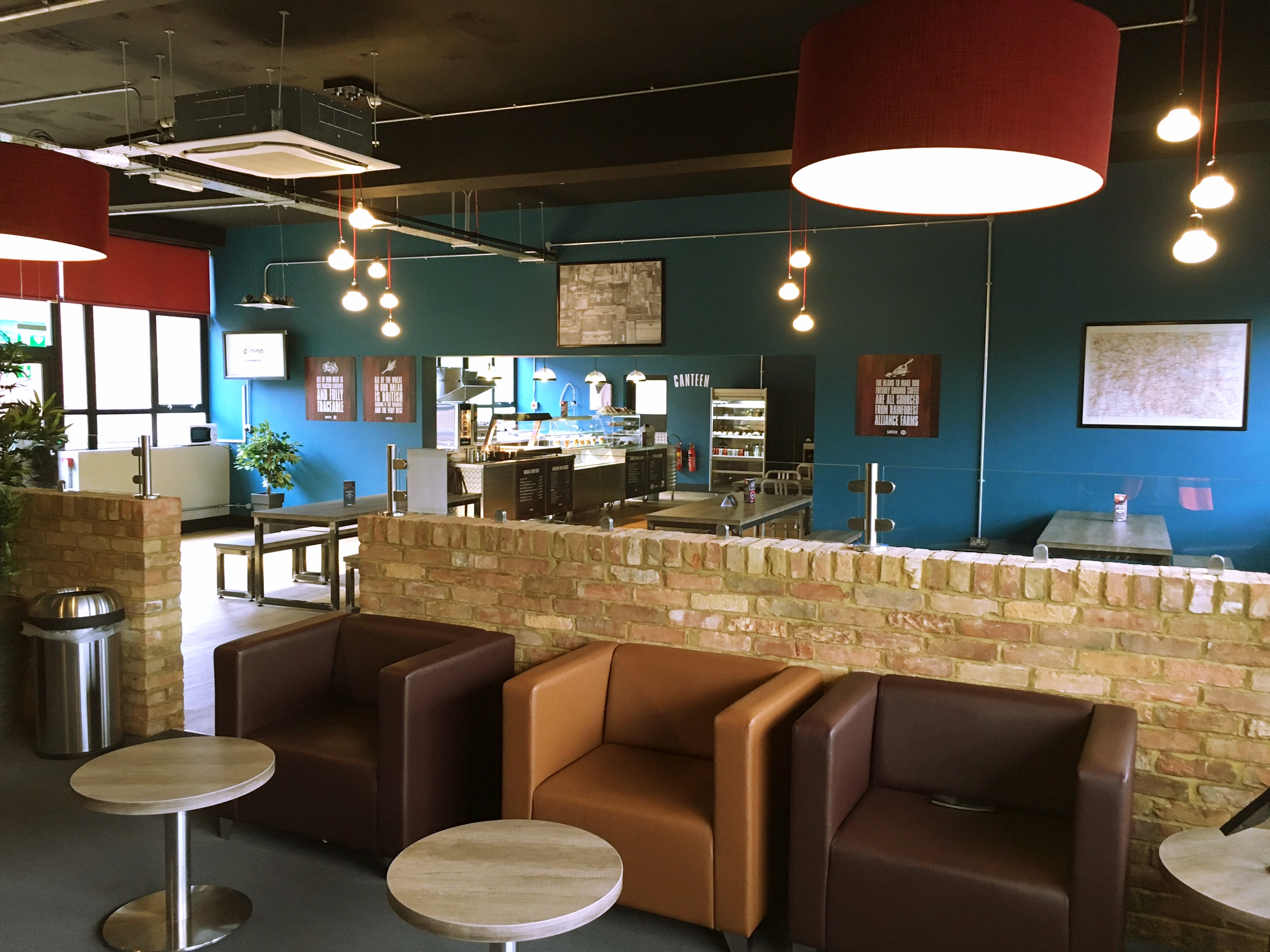 Client Name: Arriva Croydon  Project Type: Canteen refurbishment  Project Size: 150m2