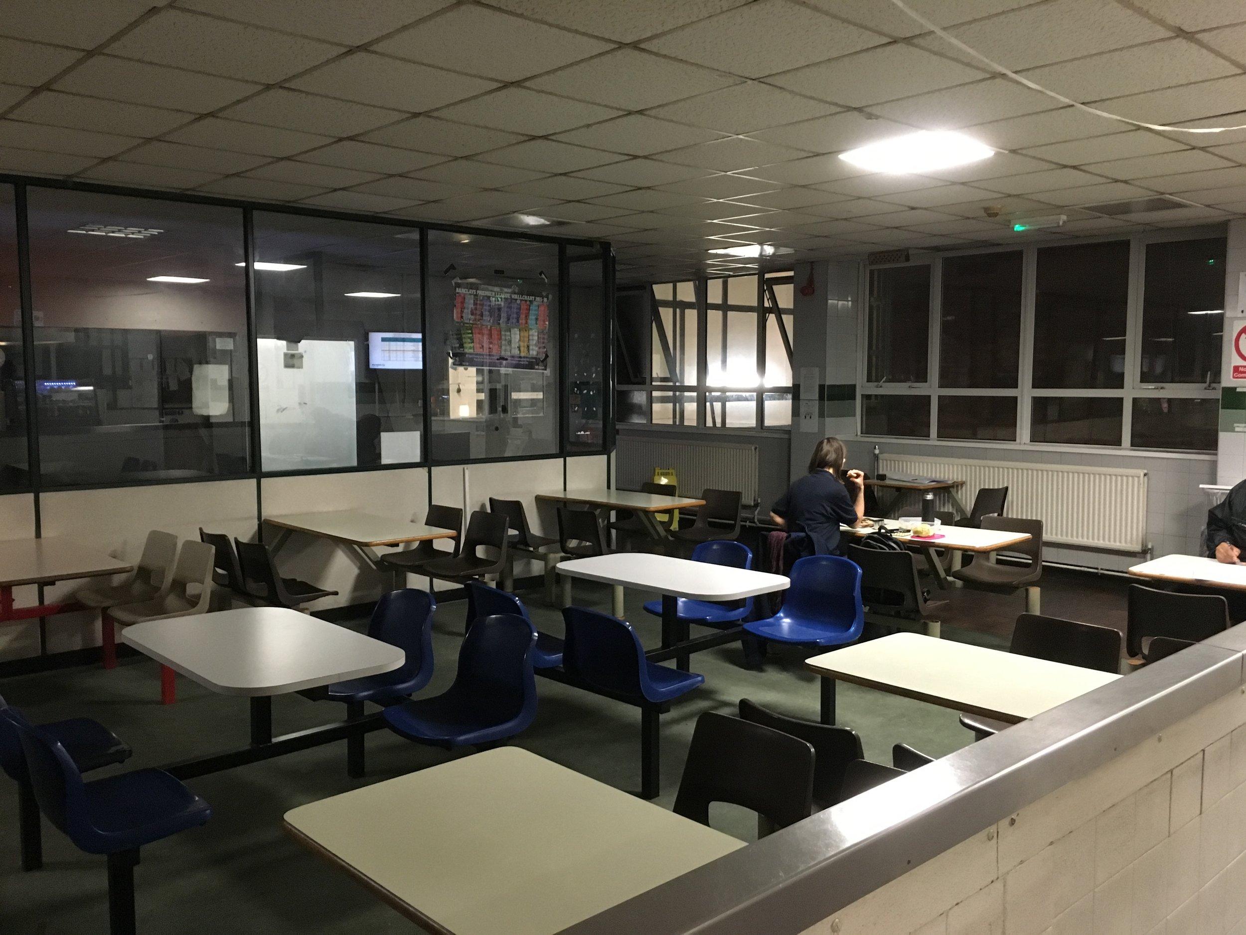 BEFORE   Croydon bus canteen