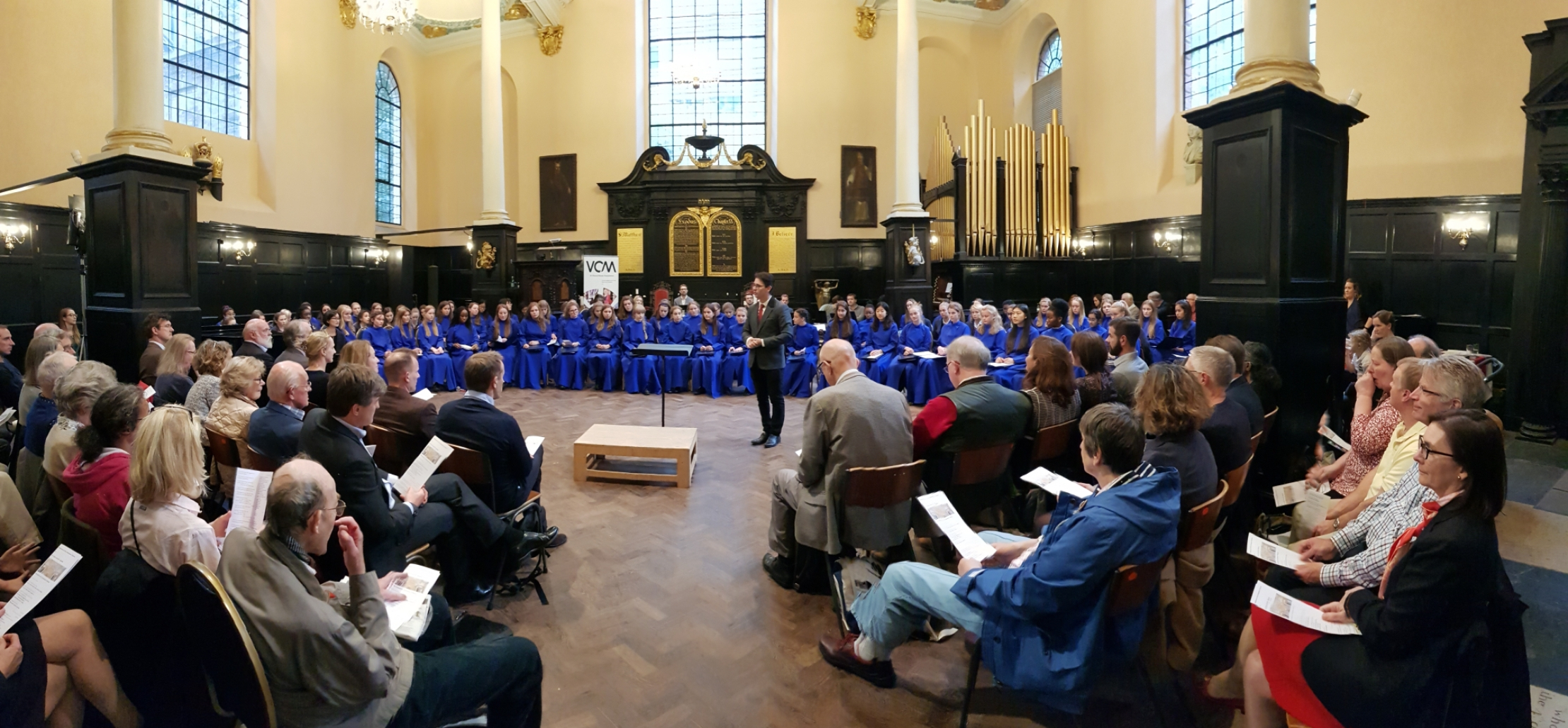 A community singing Evensong