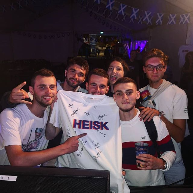 Met some top HEISK fans last night after our gig! There are still plenty of t-shirts left, so come and grab yours! @festivalinterceltiquelorient 🇫🇷🙌