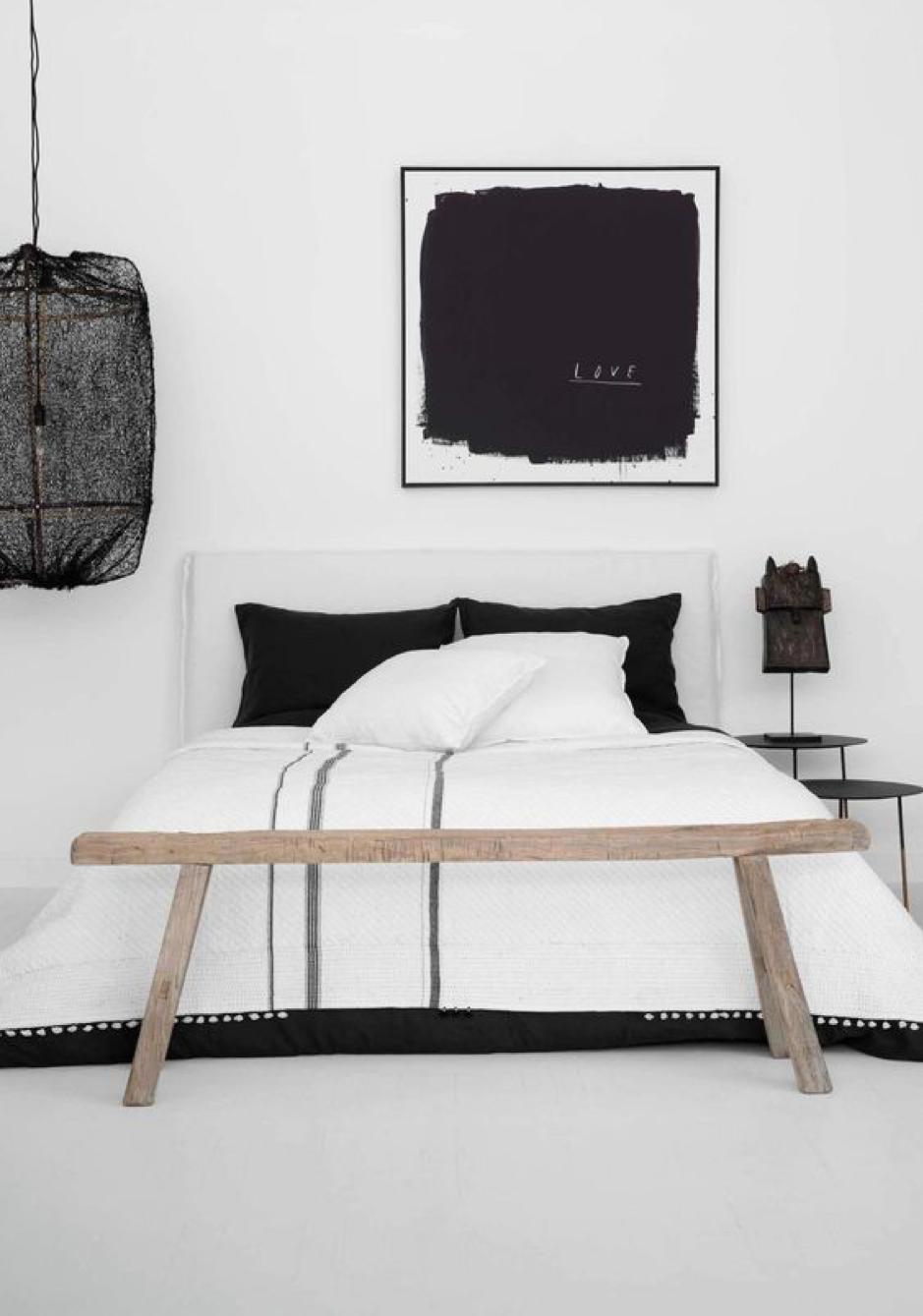 Monochrome Bedroom Envy | Pamela Makin's residence in Whale Beach. Image via Felix Forest