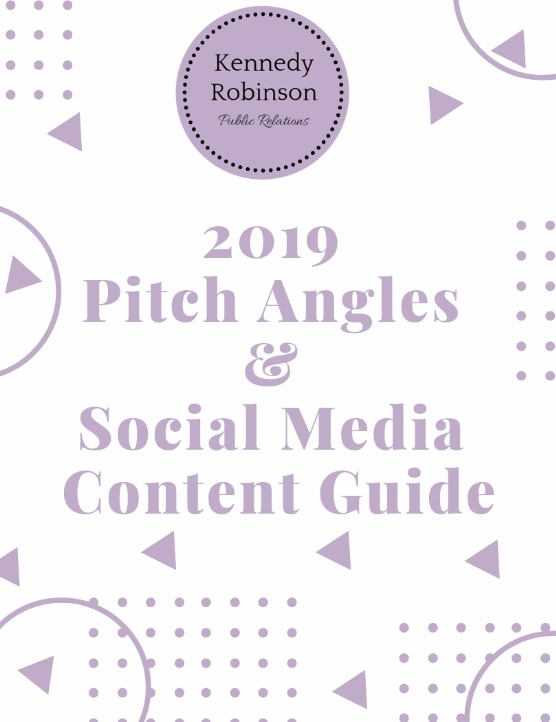 pitch angles and social media content calendar guide