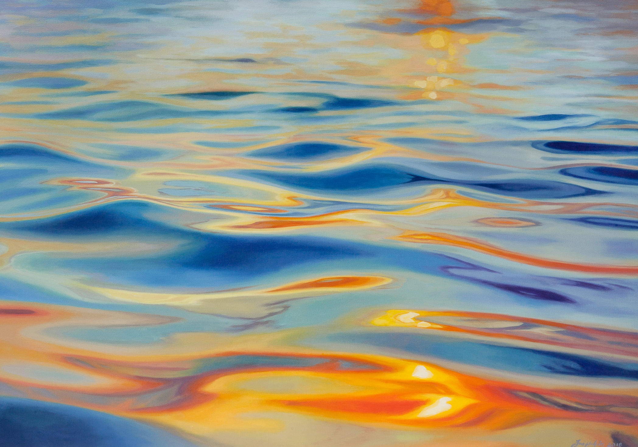 Liquid gold 70cm x 100cm SOLD