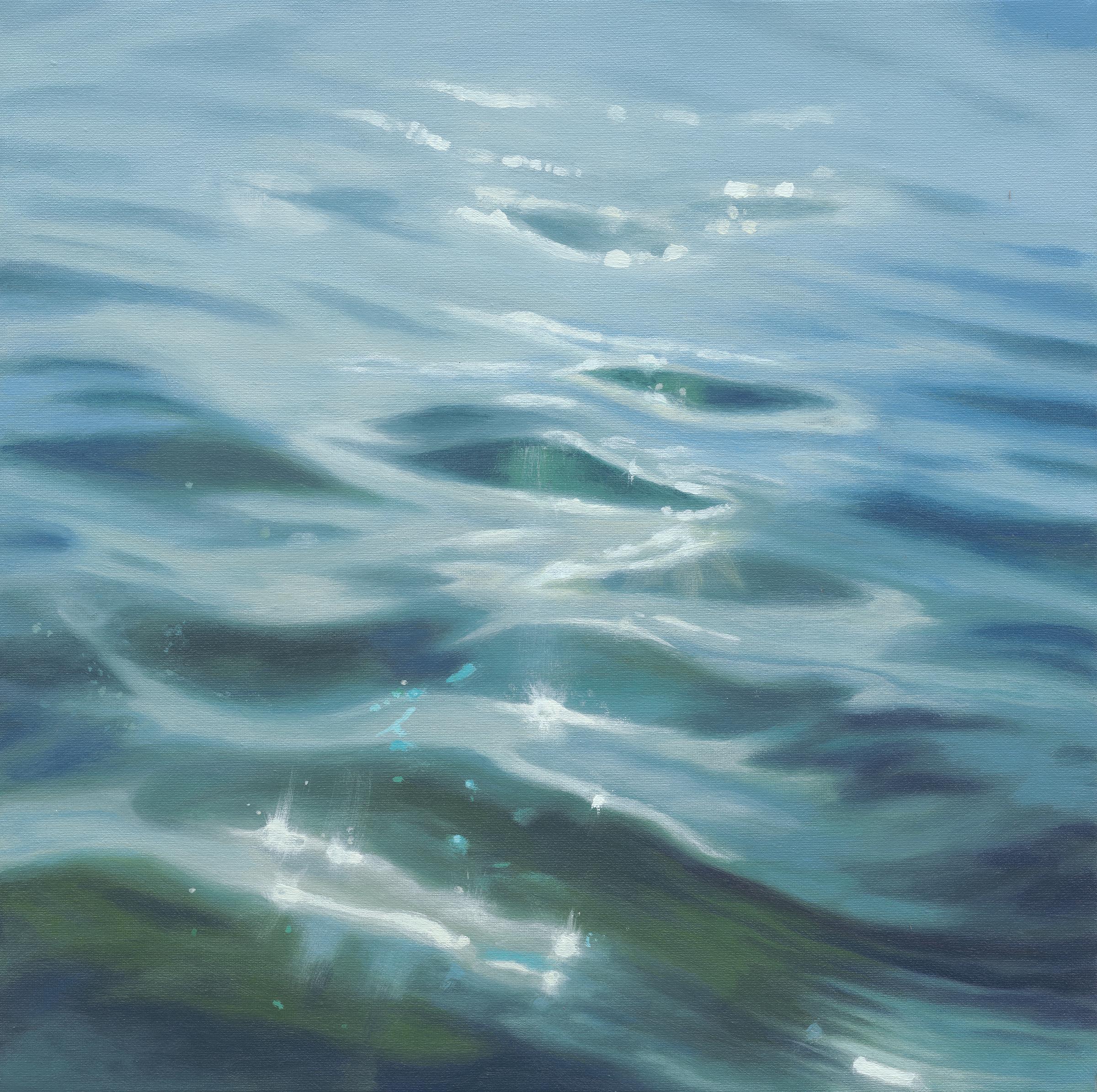 Silver strand 30cm x 30cm SOLD fine art