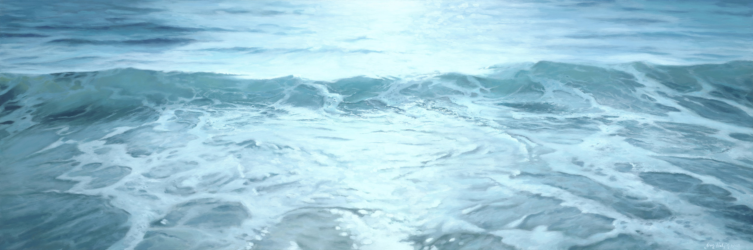 The Now €1,750 150cm x 50cm ocean painting
