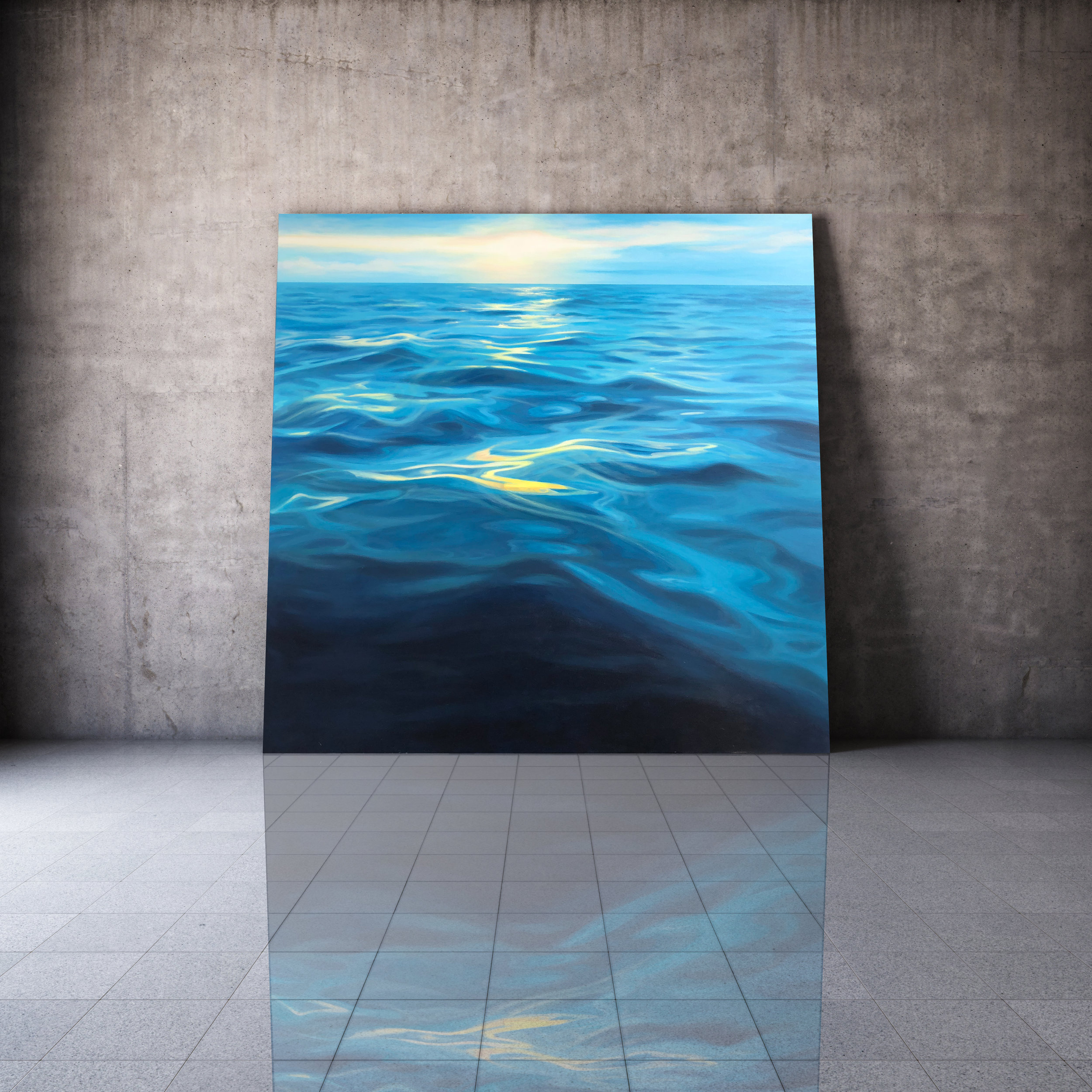 Take a breath €1,800 100cm x 100cm ocean wave