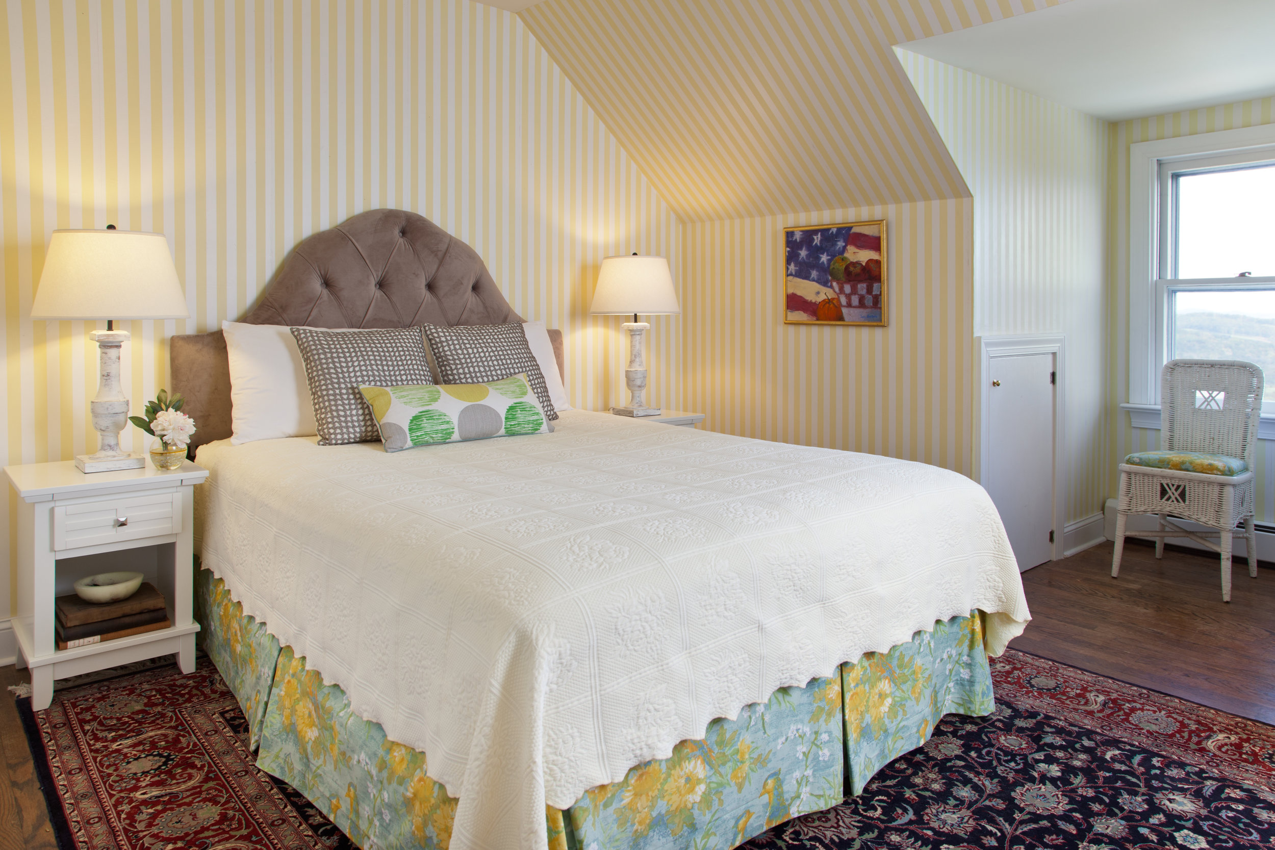 Bedroom Five - ◼︎ On the second floor◼︎ Shares bath with Bedroom 3◼︎ Entered from the hall◼︎ Queen bed