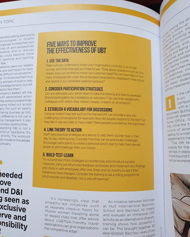 Great to see our advice on maximising the effectiveness of #UBT in Changeboard magazine 😀
