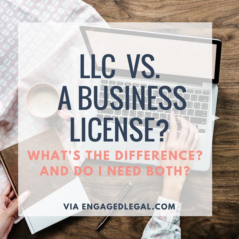 llc vs business license
